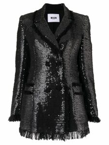 MSGM sequin blazer - Black