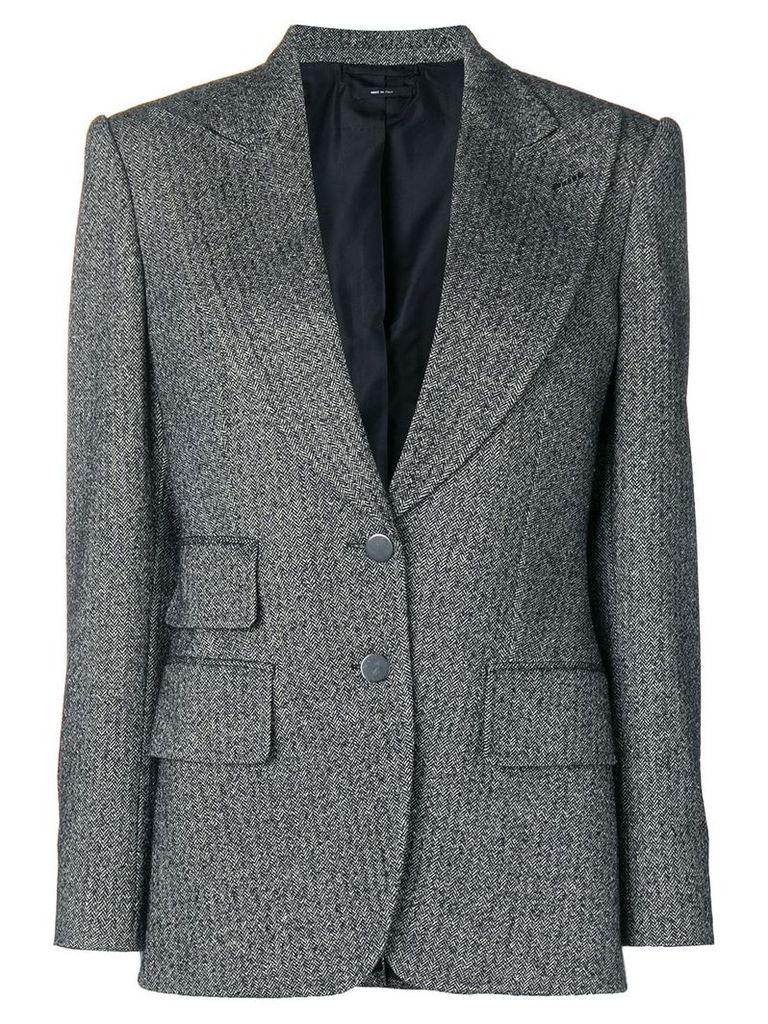 Tom Ford double-breasted tweed blazer - Black