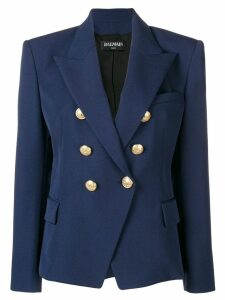 Balmain classic double-breasted blazer - Blue