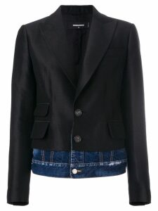 Dsquared2 Giacca denim underlayer blazer - Black