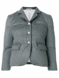 Thom Browne Down-filled Cashmere Sport Coat - Grey