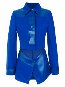 Gloria Coelho cut out Polo blazer - Blue