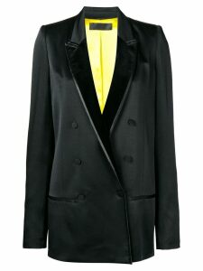 Haider Ackermann tuxedo double breasted blazer - Black