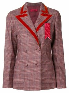 The Gigi trimmed lapel blazer - Red