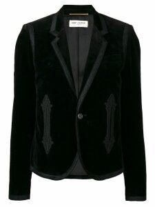 Saint Laurent embroidered blazer - Black