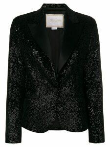 Redemption velvet sequin blazer - Black