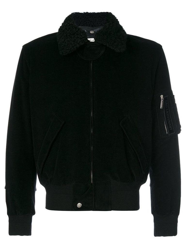 Saint Laurent classic corduroy bomber jacket - Black