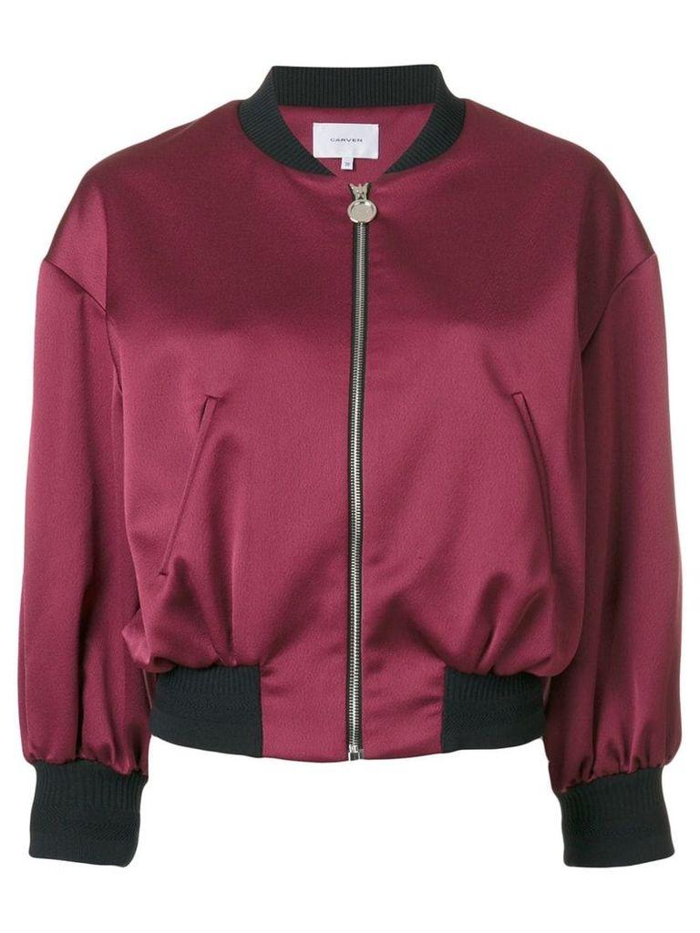 Carven cropped bomber jacket - Pink