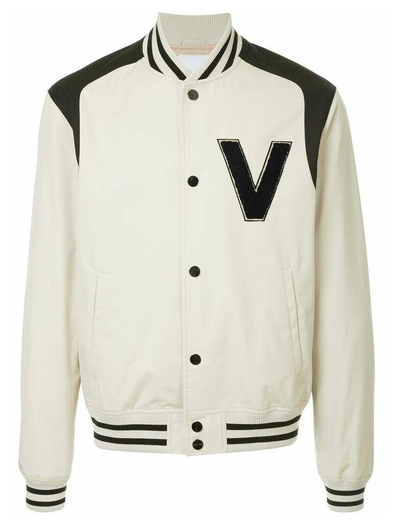 Ports V logo bomber jacket - Neutrals