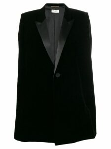Saint Laurent blazer style cape - Black