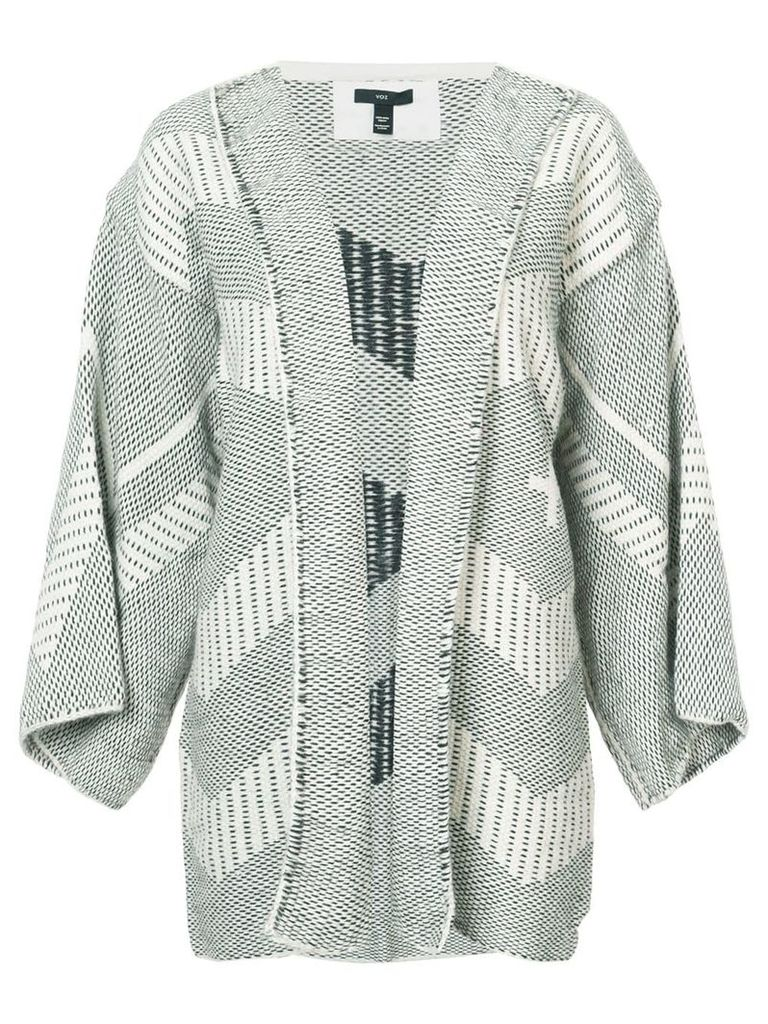 Voz open front knitted jacket - Black