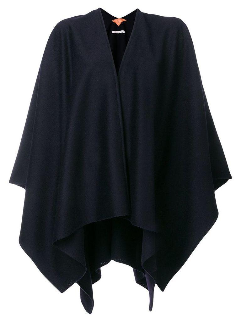 Ermanno Gallamini V-neck cape jacket - Blue