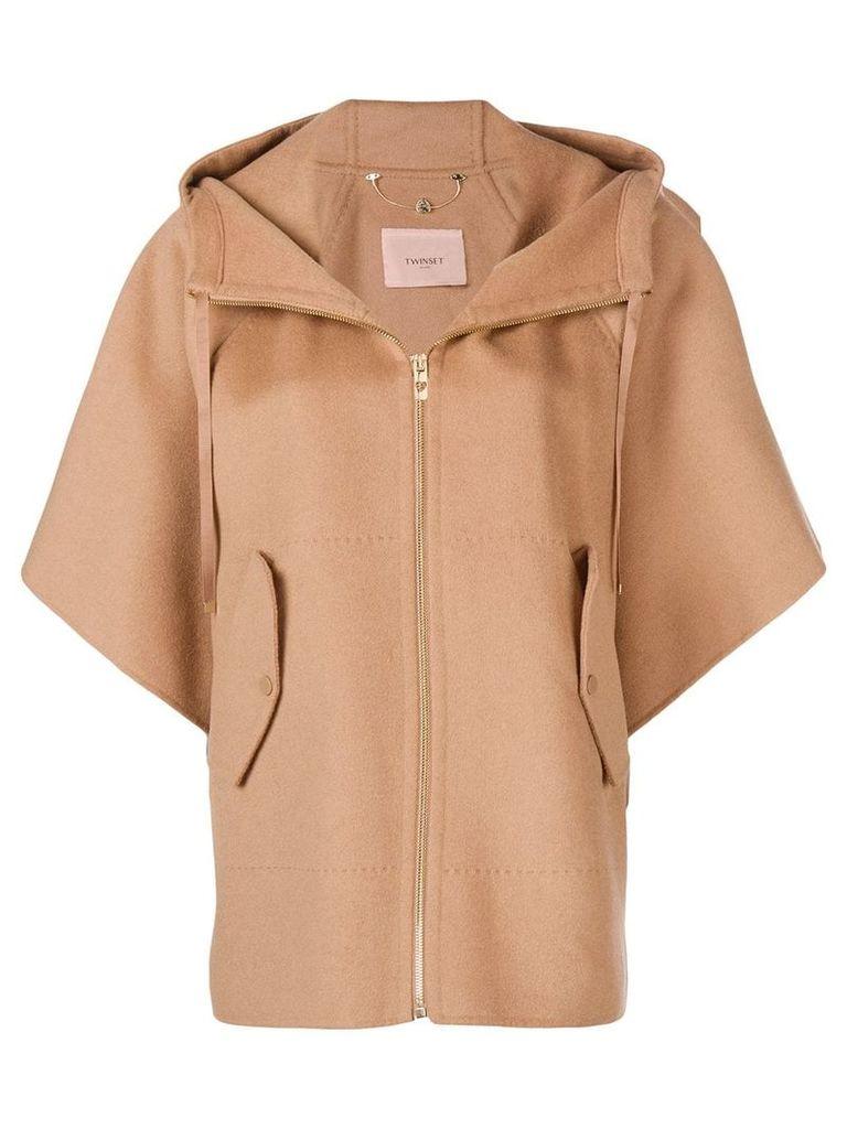 Twin-Set hooded jacket - Neutrals