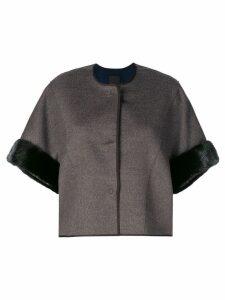 Liska Mimo cropped jacket - Brown