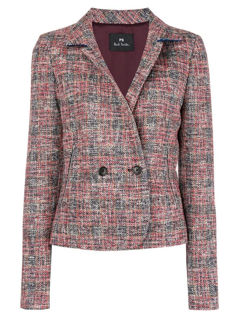 Ps By Paul Smith double-breasted tweed jacket - Red