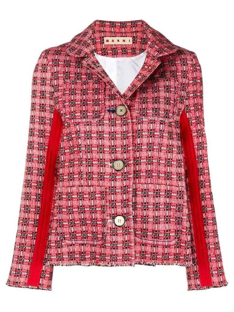 Marni plaid side stripe jacket - Red