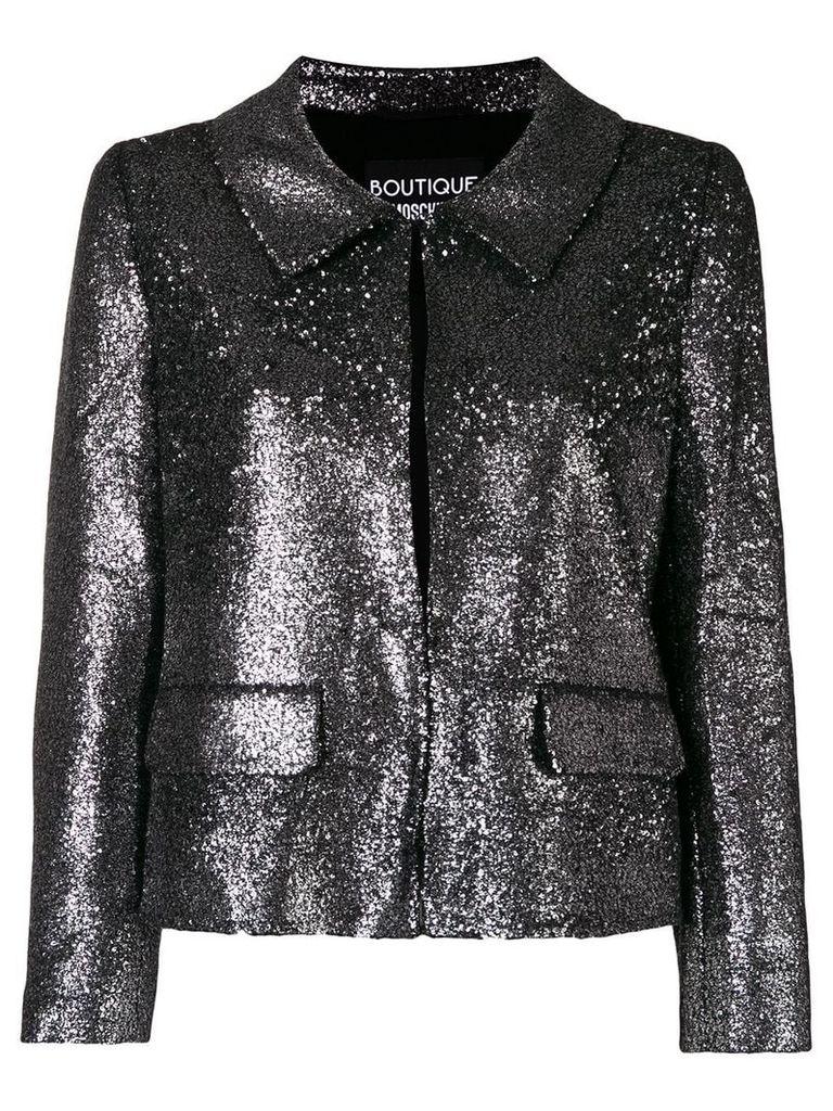 Boutique Moschino sequin embellished jacket - Metallic