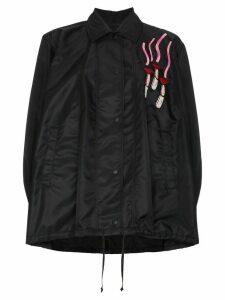 Valentino Lipstick Patch Jacket - Black