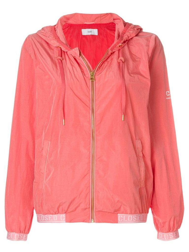 Closed zipped windbreaker - Pink