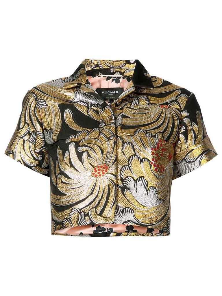 Rochas cropped metallic jacket