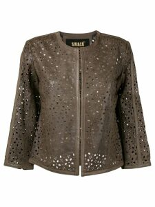 S.W.O.R.D 6.6.44 cropped laser cut jacket - Brown