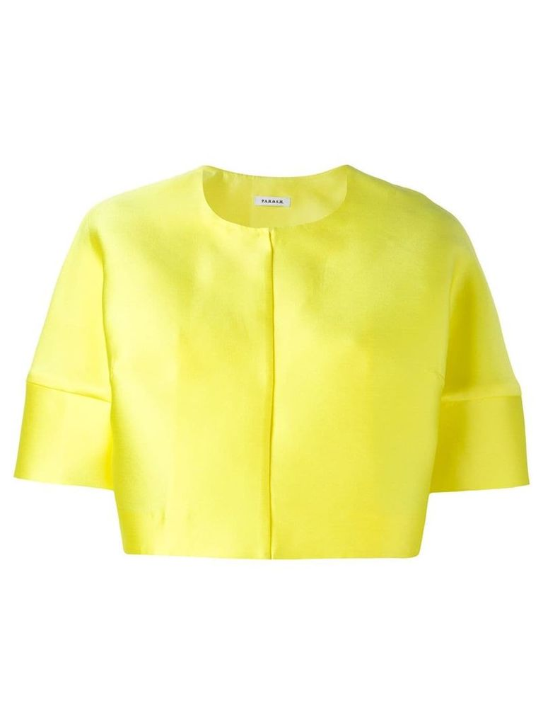 P.A.R.O.S.H. short sleeved crop length jacket - Yellow