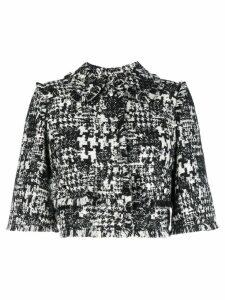 Dolce & Gabbana raw detail boxed jacket - Black
