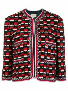 Gucci woven GG jacket - Red