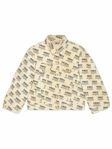 Gucci Gucci invite stamp denim jacket - Neutrals