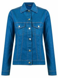 Amapô classic polo collar denim jacket - Blue