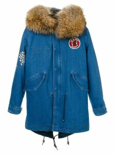 Mr & Mrs Italy denim midi parka - Blue