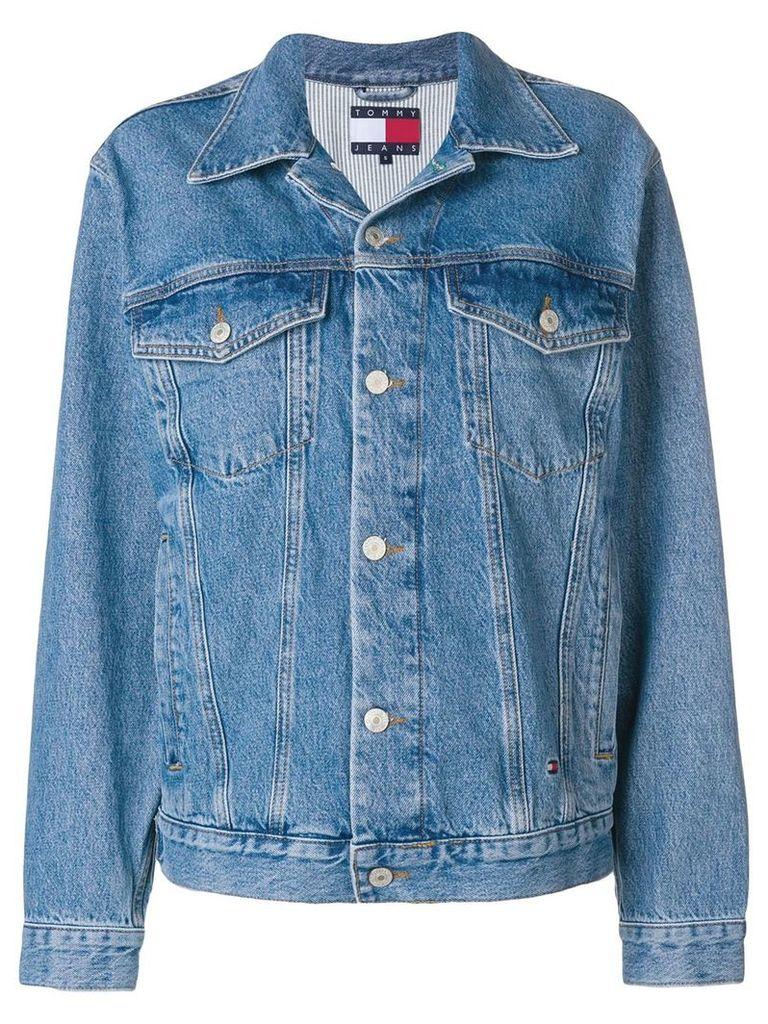 Tommy Jeans rear logo denim jacket - Blue