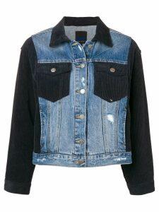 SJYP hybrid corduroy denim jacket - Blue