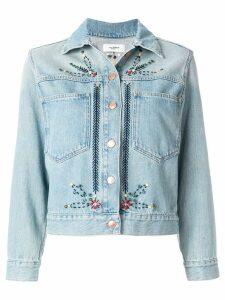 Isabel Marant Étoile embroidered denim jacket - Blue