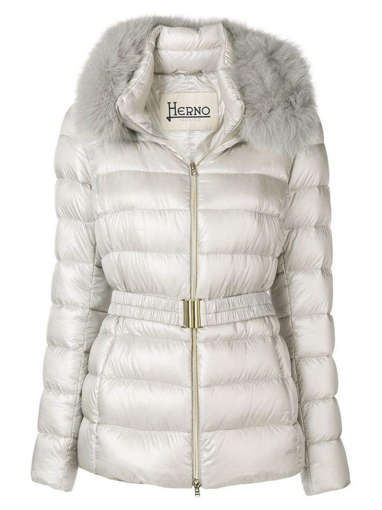 Herno Iconic Claudia jacket - Neutrals