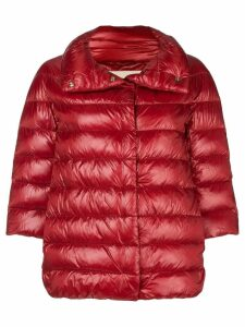 Herno feather down puffer jacket - Red