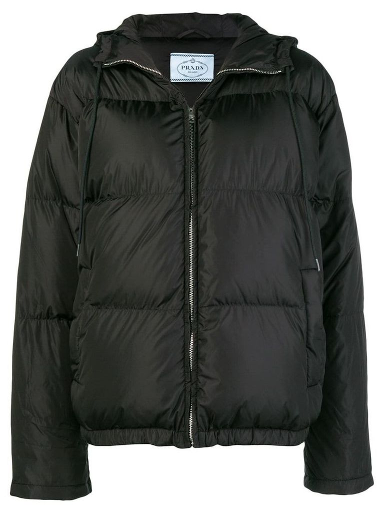 Prada classic puffer jacket - Black