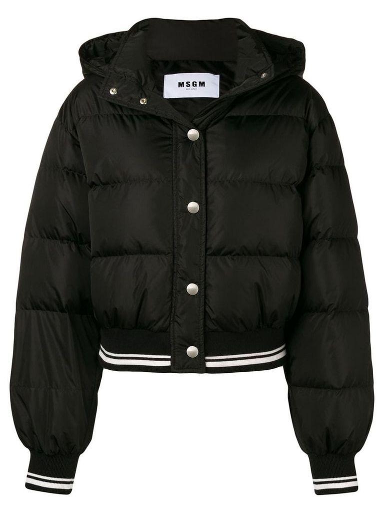MSGM cropped padded jacket - Black