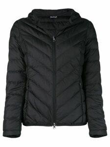Ea7 Emporio Armani basic zipped puffer jacket - Black