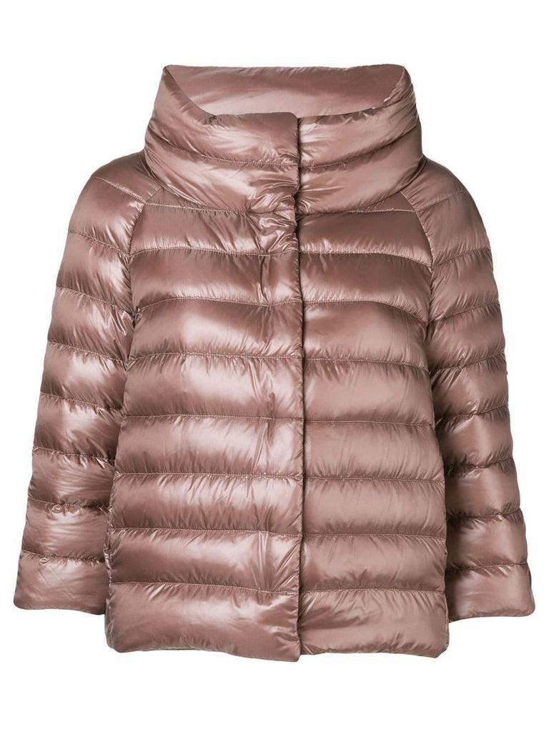 Herno three-quarter sleeved jacket - Brown