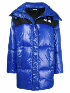 Miu Miu oversized puffer jacket - Blue