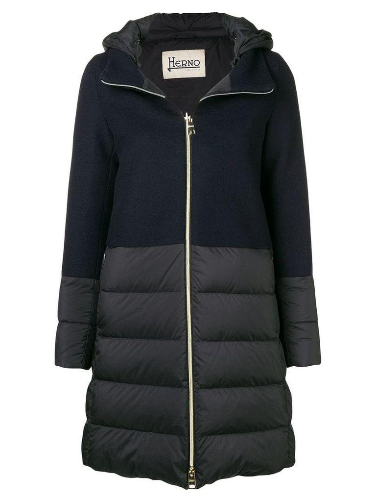 Herno knit upper padded jacket - Blue