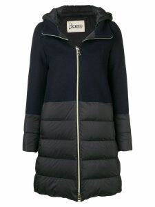 Herno knit upper padded jacket - Blue