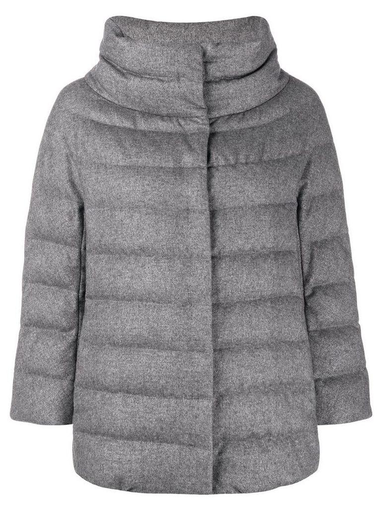 Herno funnel neck padded jacket - Grey