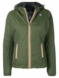 K-Way zipped padded jacket - Green