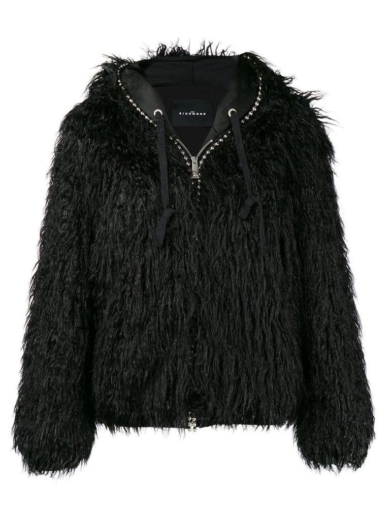 John Richmond stud detail puffer jacket - Black