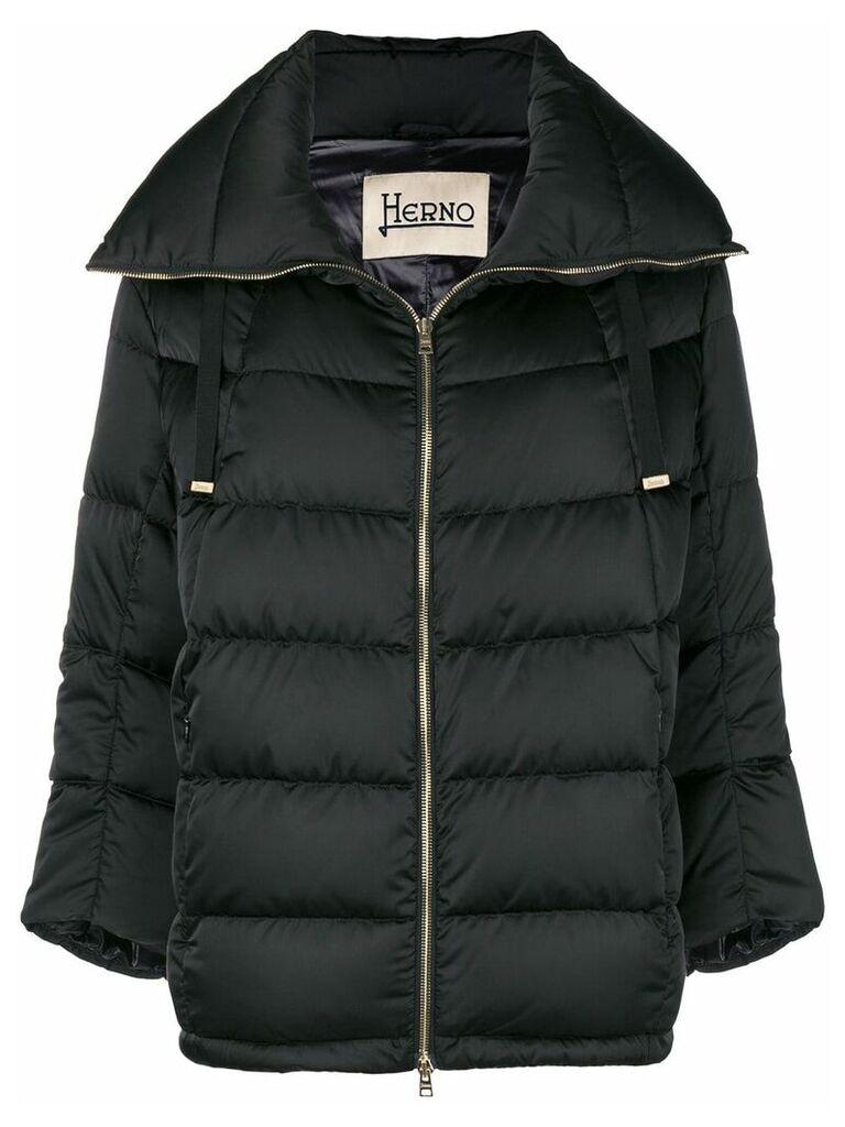 Herno cropped sleeve padded jacket - Black