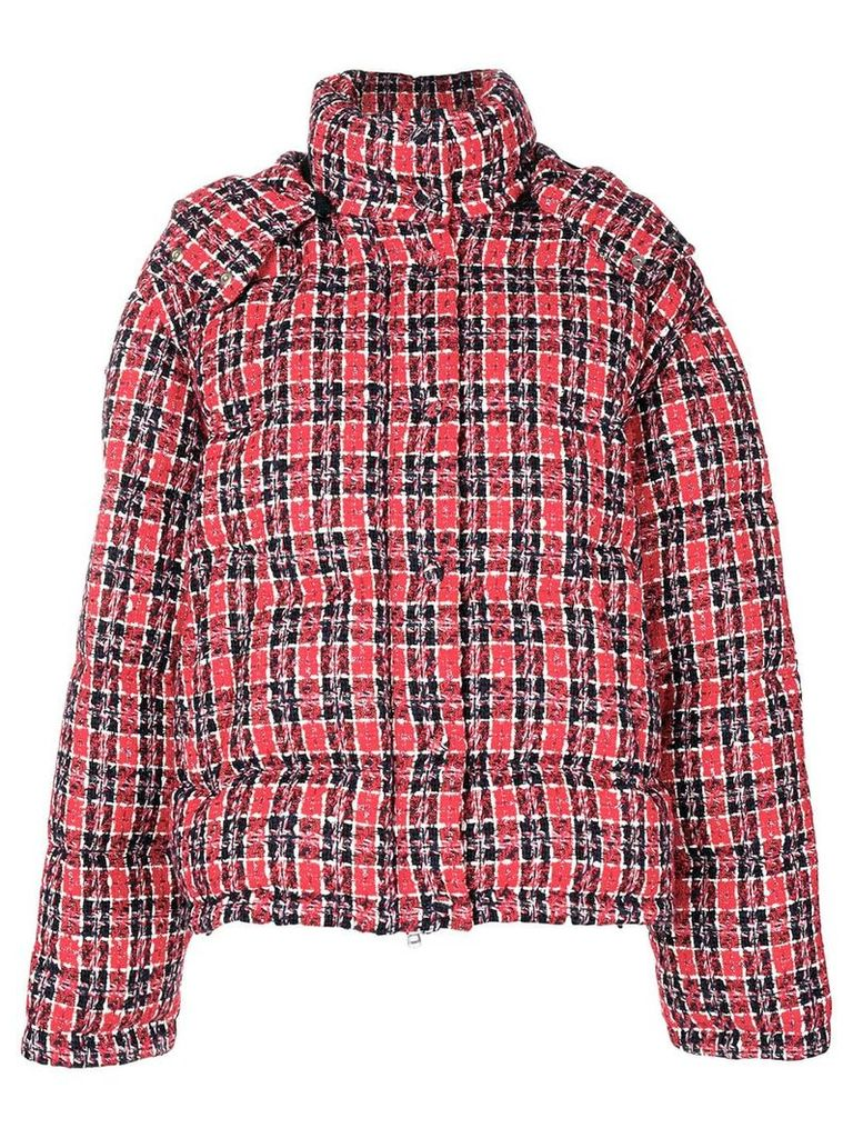 Gucci Tweed puffer jacket - Red