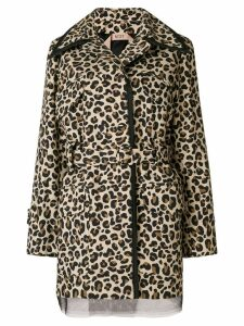 Nº21 leopard print belted jacket - Brown