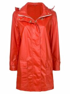 Fay straight-fit raincoat - Red